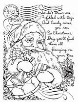 Santa Stamp Collage Rubber Coloring Franticstamper Mounted Sheets sketch template