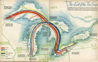 Great Lakes Shipping Routes Map