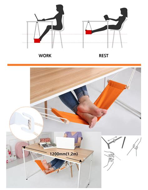 Office Desk Tools by Adjustable Desk Hammock Rest Pedal Foot Chair