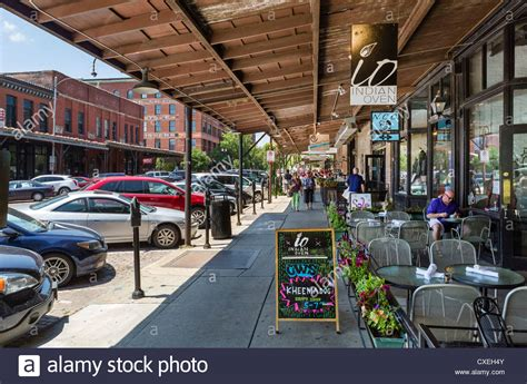 market historic omaha indian street shops restaurant homes key howard estate hotel shopping cart alamy