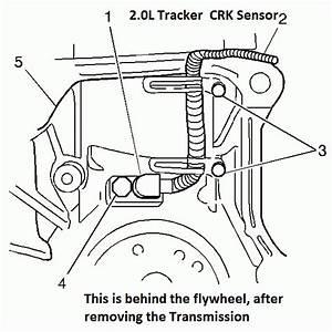 Where Is The Crank Sensor For 02 U0026 39  Chevy Tracker 2 0l