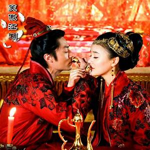 Red Cheery Traditional Chinese Wedding Dress Newest TV ...