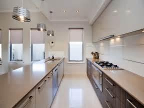 modern galley kitchen ideas modern galley kitchen design polished concrete kitchen photo 901398