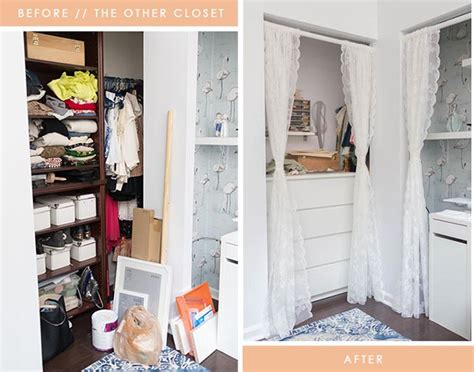before after a small nook becomes a sewing station
