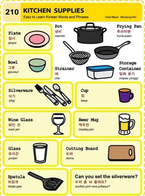Learning Korean  Kitchen Supplies  Korean Culture, Food & Language  Pinterest Korean