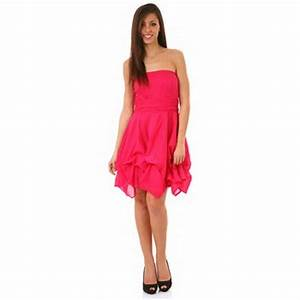 Robe bustier rose fushia for Robe bustier rose