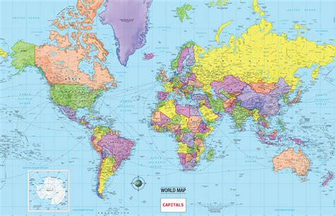 Carte Monde Pays Capitales by Map Of World Countries And Capitals 187 Travel