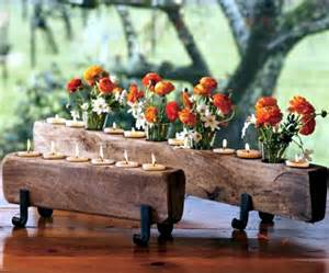 kitchen table centerpiece ideas rustic autumn table decoration wooden box with fruit and
