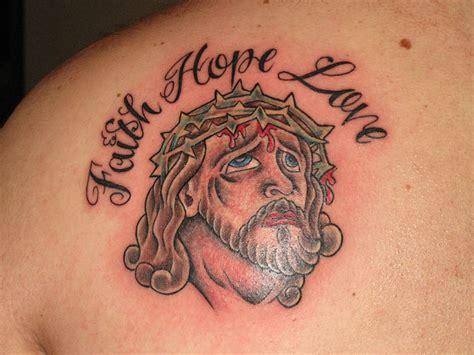 Faith Hope Love Lettering Tattoo – Faith Tattoos Design