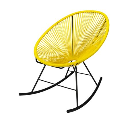 fauteuil acapulco rocking chair jaune 95 salon d 233 t 233
