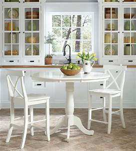 36, U0026quot, Round, Hardwood, Dining, Table, With, Leaf