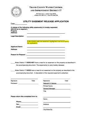 blank easement forms fillable highway easement release fill online printable