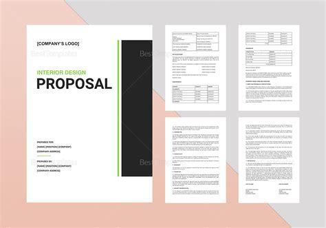 interior design proposal template  word google docs