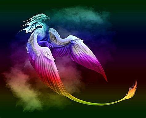 fantasy images rainbow dragon hd wallpaper  background