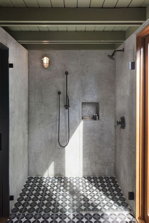 garner pool casita concrete bathroom shower makeover