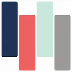 Navy coral mint gray color inspiration. | bedroom plans ...