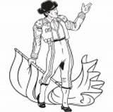 Matador Clipart Teacher sketch template