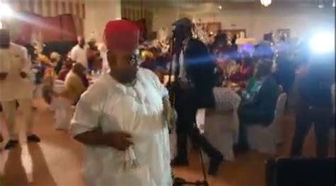Senator Ademola Adeleke Dancing And Spraying Dollars At A