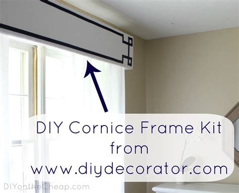 cornice kit new window treatments diy cornice frame kit review