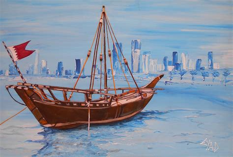 Boats For Sale Bahrain by Bahrain Boat Painting By Eric Shelton
