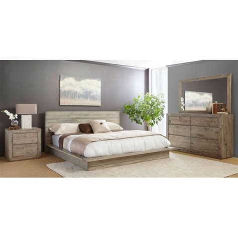 California Bedrooms by White Washed Modern Rustic 6 California King Bed