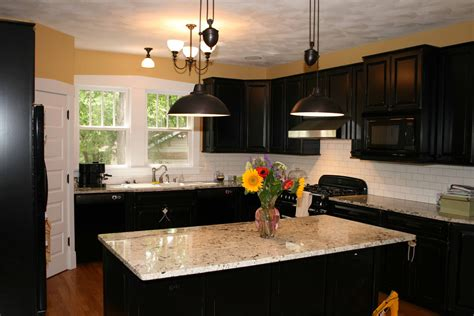 black cupboards kitchen ideas kitchen kitchen backsplash ideas black granite