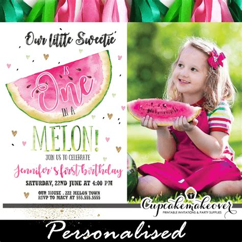 melon invitations  photo watermelon party