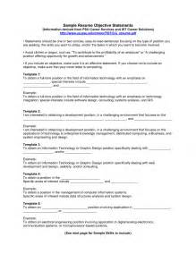 resume positioning statement exles list of career goals exles