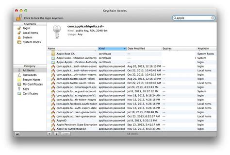 how to access keychain on iphone find forgotten passwords with keychain access os x tips