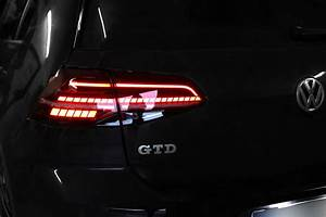 Complete Kit Led Rear Lights For Vw Golf 7 With Dynamic Turn Signal