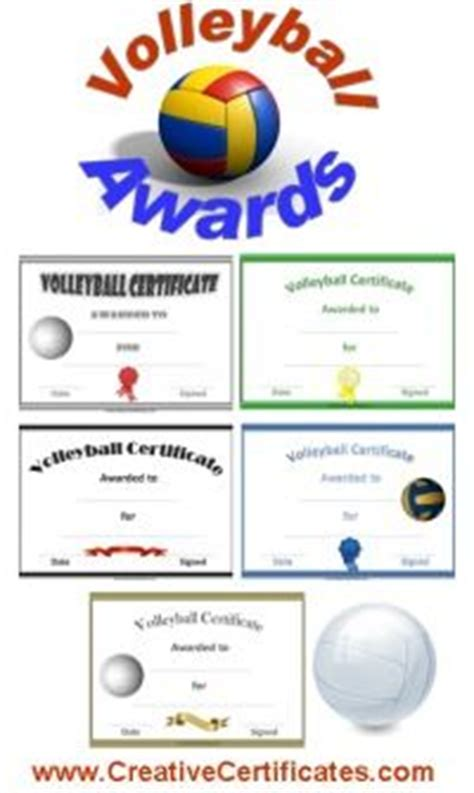 variety   printable volleyball awards