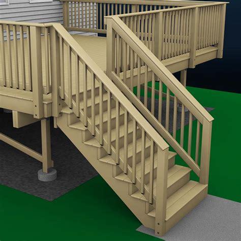 build  deck wood stairs  stair railings