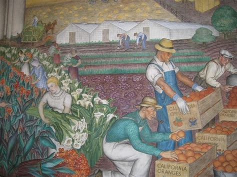 Coit Tower Murals Wpa by Coit Tower Wpa Murals San Francisco Favorite Places