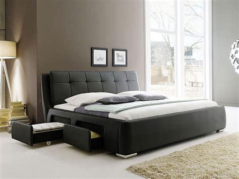 matratze 200 x 200 polsterbett schwarz bett 180x200 bettgestell 4x schubkasten doppelbett alvaro ebay