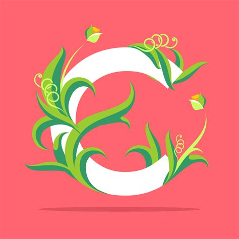 natural letter  typography vector   vectors