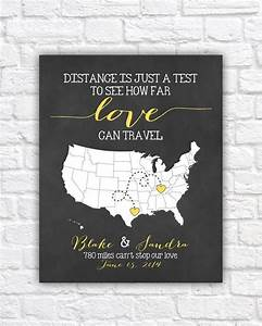 personalized wedding map gift for couples art bridal With wedding invitation for long distance relationship