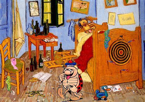 la chambre à coucher de gogh artplafox 5eme sujet 5 intrusion