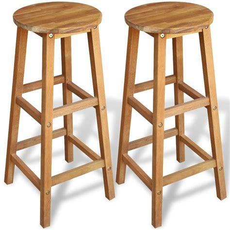 Wood Counter Stools - acacia wood counter stools set of 2 bar stools