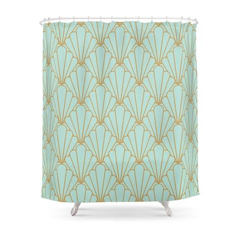 Deco Drapes - deco series mint green shower curtain polyester fabric