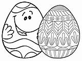 Easter Egg Coloring Pages Eggs Printable Places Face Ws sketch template
