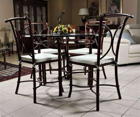 tavolo ferro battuto tavolo in vetro e 4 sedie in ferro battuto in saldo a