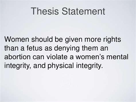 thesis statement   abortion case essays