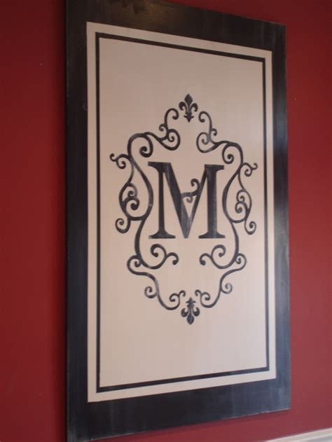 DIY Monogram Wall Art