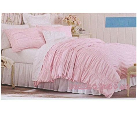 pillow shams size simply shabby chic textured ruched duvet cover set