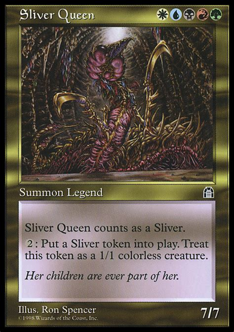 sliver queen magic the gathering card info