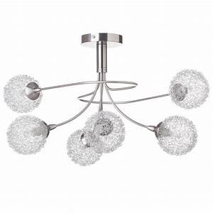allium semi flush ceiling light 6 light satin nickel With allium 5 light satin nickel floor lamp