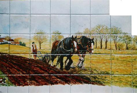 decoration faience pour cuisine paysage sur faïence décor moderne fresque sur carrelage
