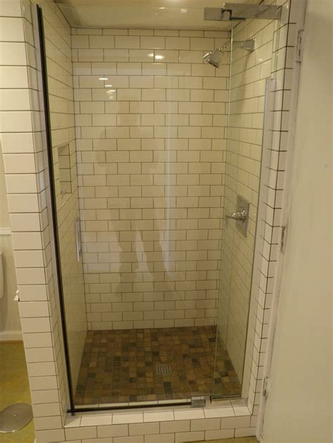 chic corner shower stalls  small space bathroom nice