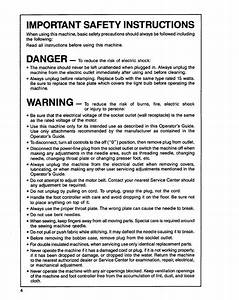 Impofttant Safety Instructions  Danger  Warning