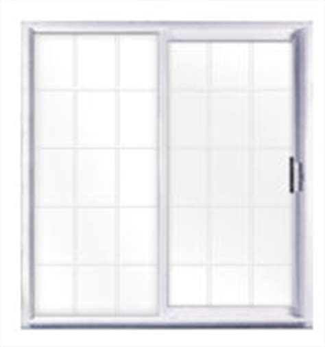 kinro 72 quot x 76 quot vinyl sliding patio door with grids